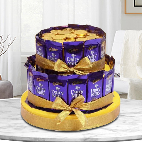 Delightful Tower Arrangement of Chocolates