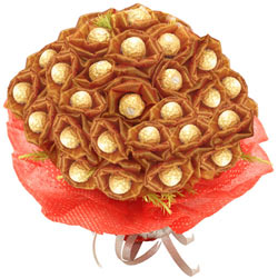 Beautiful Bouquet of 24 Pcs. Ferrero Roacher Chocolates