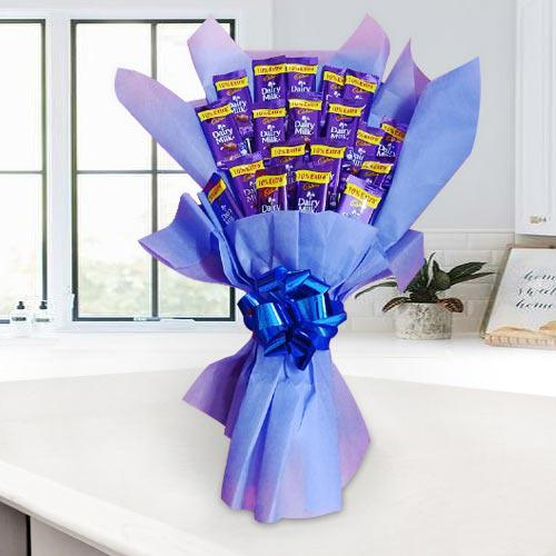 Tasty Cadbury Dairy Milk Chocolates Bouquet