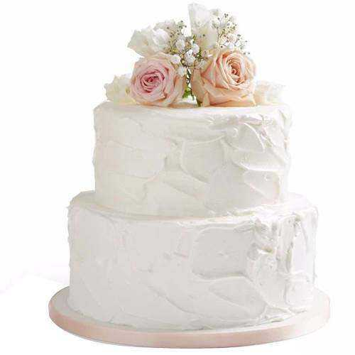 Rustic Elegance 2 Tier Wedding Cake