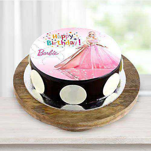 Exceptional Barbie Photo Cake for Little Princess