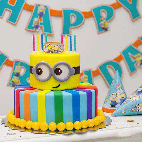 Sumptuous Two Tier Minion Cake for Birthday