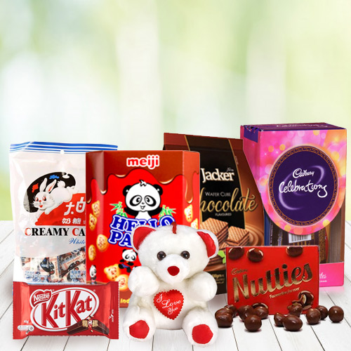 Delicious Mixed Chocolates with Teddy