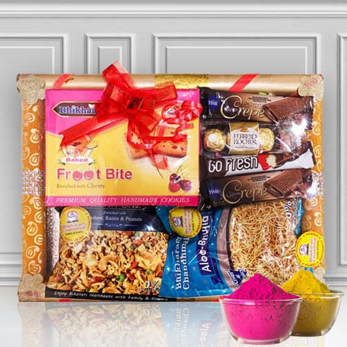 Marvelous Sweet n Sour Fusion Gift for Holi