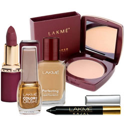 Stunning Compact, Nail Polish, Lipstick, Foundation and Kajal from Lakme