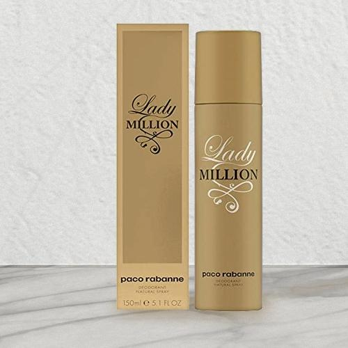Delightful Gift of Paco Rabanne Lady Million Deodorant Spray