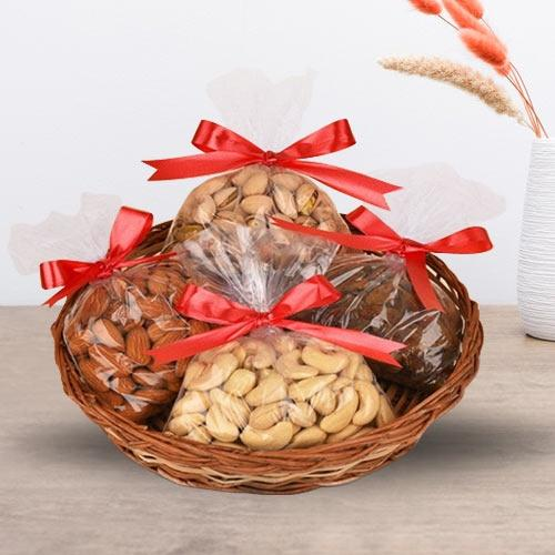 Delicious Assorted Dry Fruits Basket