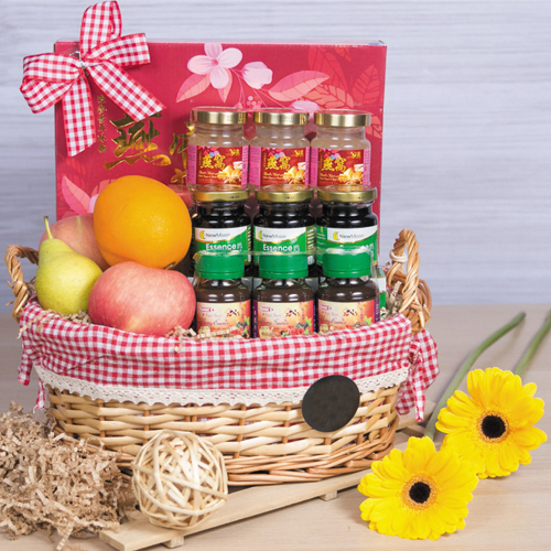 Nutritious Fruits N Healthy Treat Gift Basket for Mothers Day