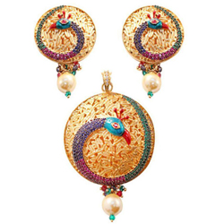 Wonderful Peacock Pattern Necklace Set