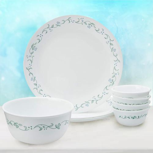 Impressive Corelle Country Cottage Glass Dinner Set