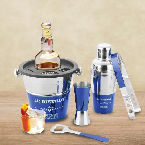 Imperial Blue Lacquered Bartender Tool Set