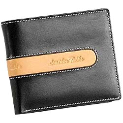 Suave and Formal Looking Genuine Leather Men's Wallet in Black and Brown from Leather Talks