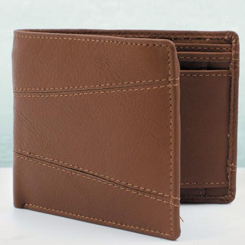 Fashionable Gent's Brown Color Leather Wallet