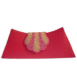 Modish Peach Ladies Clutch from Spice Art