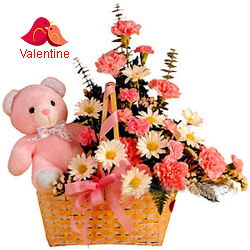<u><font color=#008000> MidNight Delivery : </FONT></u>:Bouquet with Teddy