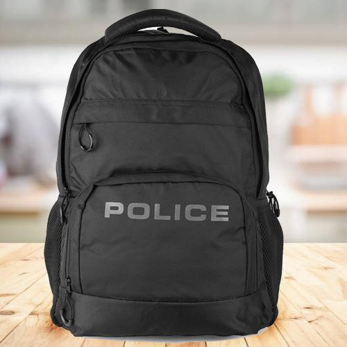 Stylish Mens Black Bag-Pack from Police