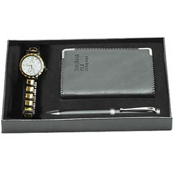 Splendid Watch Gift with Notepad N Pen