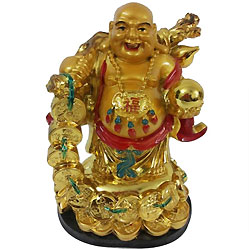 Charming Laughing Buddha with Best Wishes