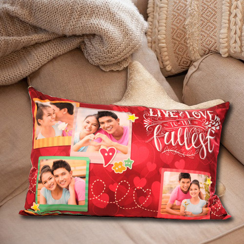 Wonderful Rectangular Personalized Photo Cushion
