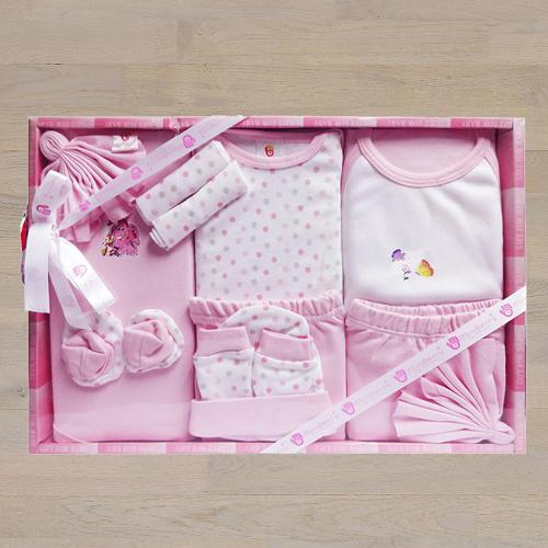 Exclusive Gift Set of Cotton Clothes for New Born Girl