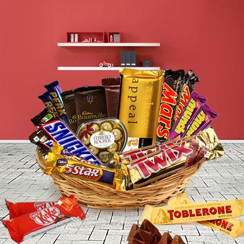 Lovely Basket of Assorted Chocolates
