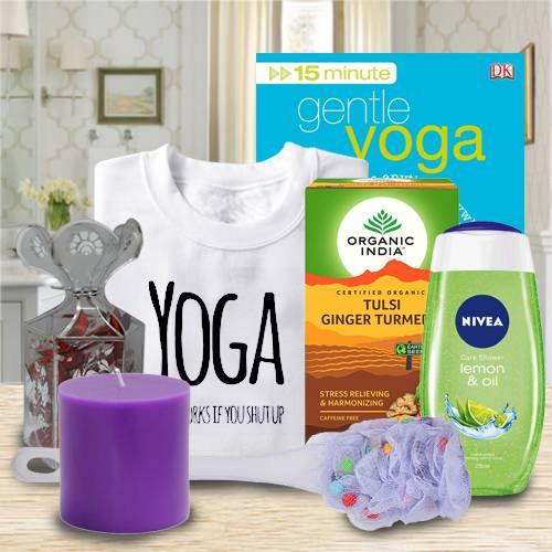 Amazing Gift Basket of Yoga, Tea and Essentials