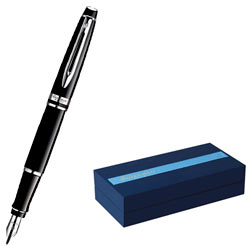 Lovely Waterman Hemisphere Black Lacquer CT Fountain Pen
