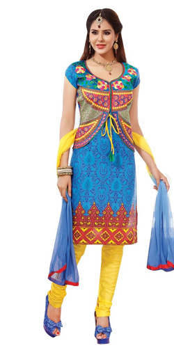 Rocking Pure Cotton Printed Salwar Suit in Multicolour