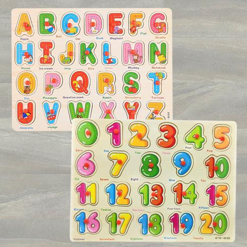 Exclusive Set of 2 Wooden Learning Board for Kids