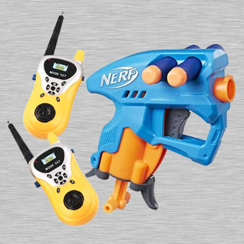 Exclusive Nerf Nano Fire Blaster with Walkie Talkie Toy