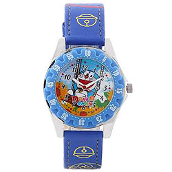 Fashionable Doraemon Kids Watch in Multicolour